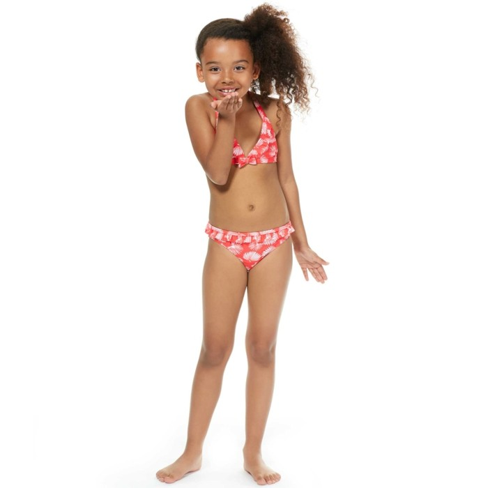 55c6c7572ea4 Femme du 34 au 48 Haut de maillot de bain corbeille imprim茅 feuilles