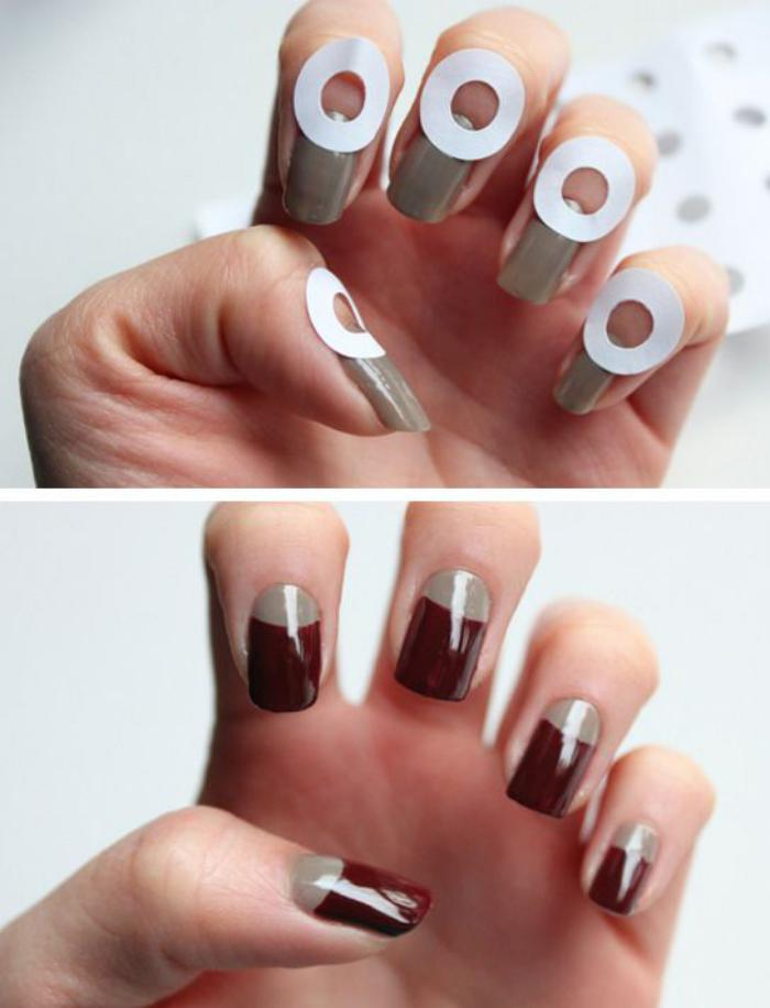 manucure-demi-lune-idée-nail-art-facile