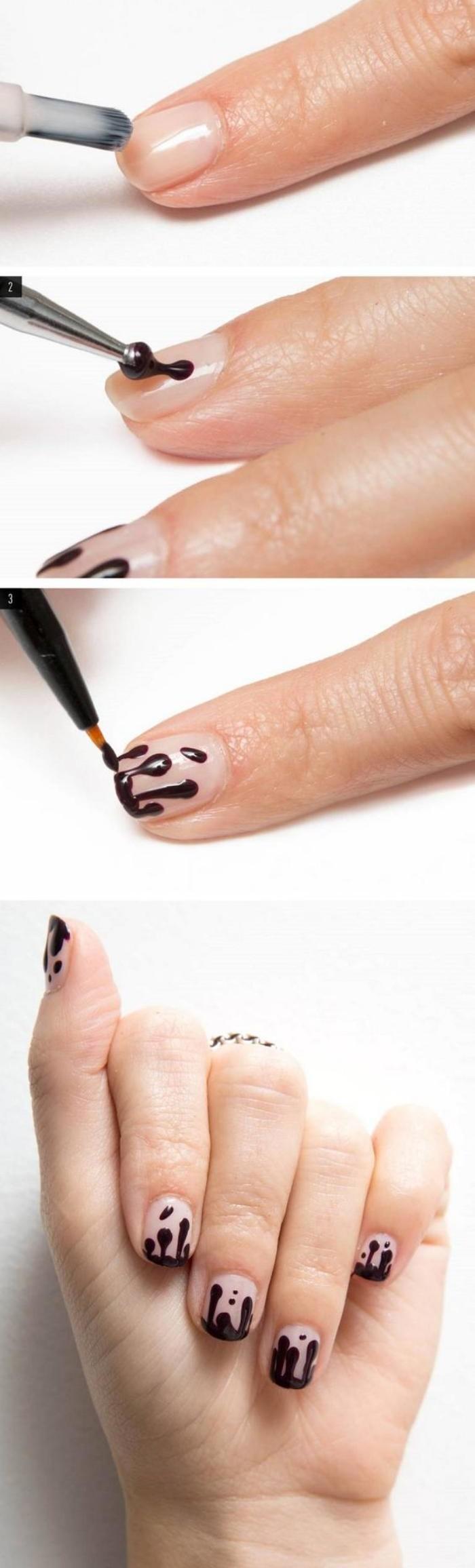 French Manucure Originale dedans la manucure en couleur nude - idées originales pour votre nail art