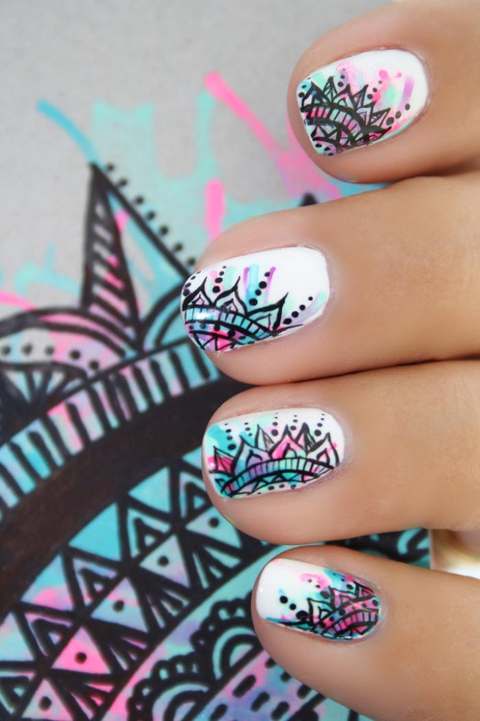 manucure-graffiti-graffiti-nails-idée-manucure
