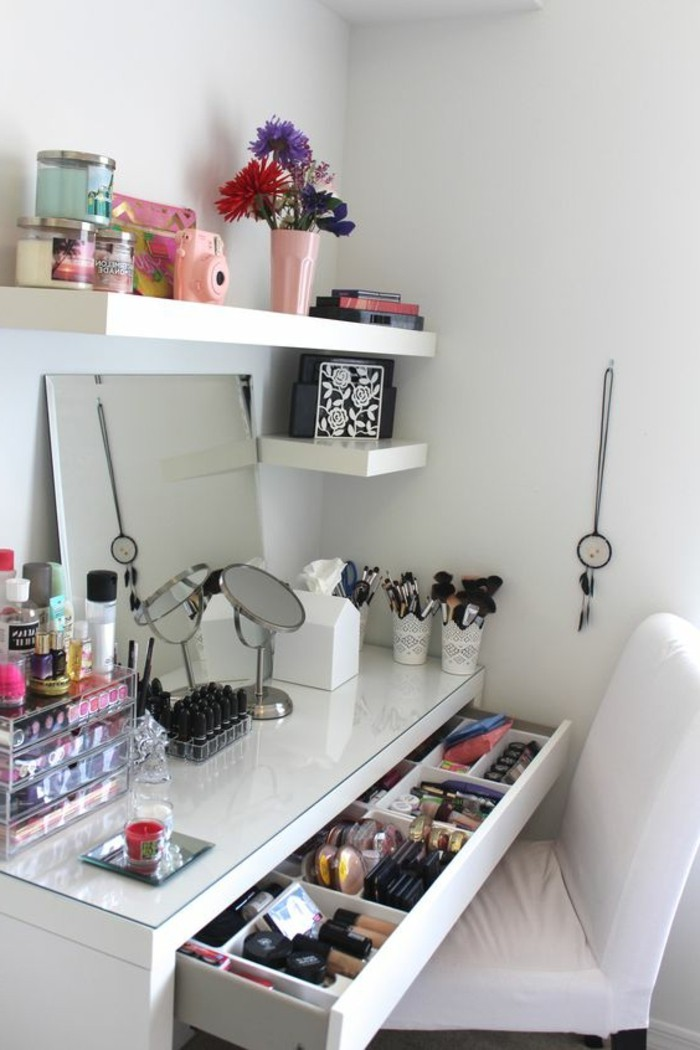 52 id es de rangement make up en photos et vid os for Chambre youtubeuse beaute