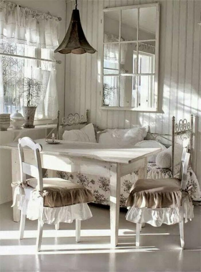 d co et meubles shabby chic dans la salle manger comment cr er une atmosph re vintage. Black Bedroom Furniture Sets. Home Design Ideas