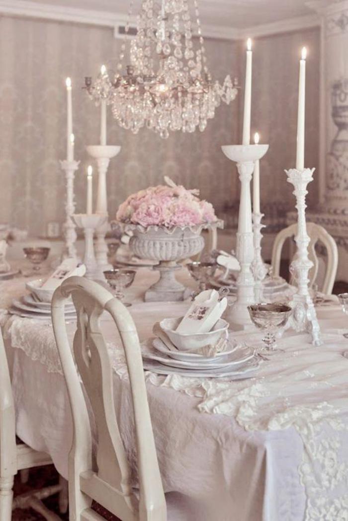 D co et meubles shabby chic dans la salle manger - Deco noel shabby chic ...