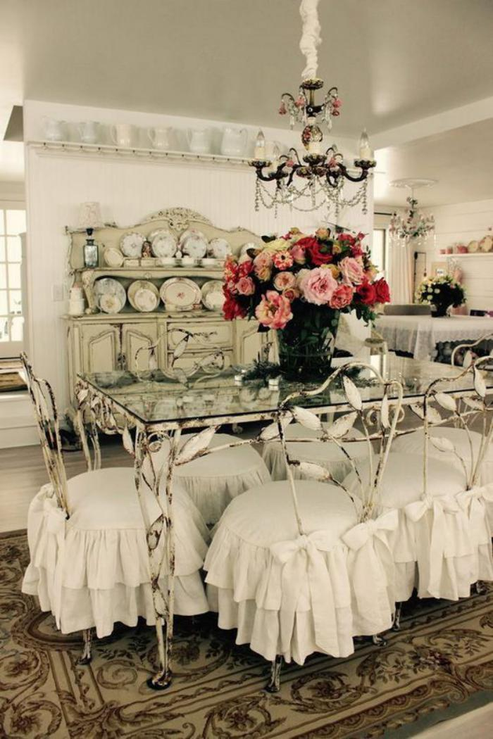meubles-shabby-chic-décoration-salle-à-manger-style-shabby-chic
