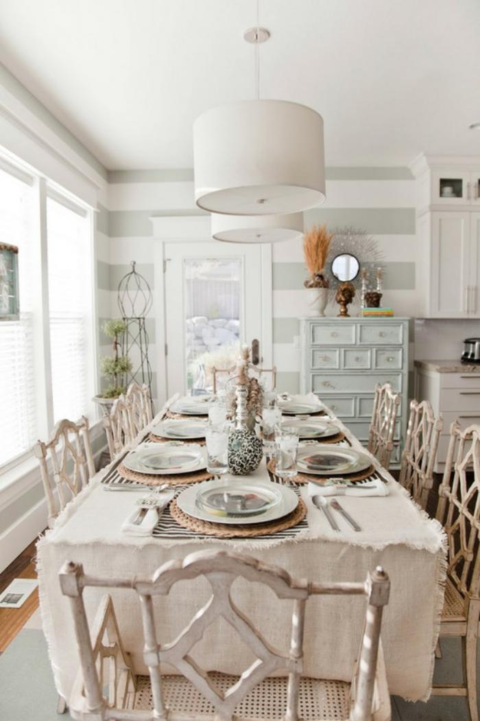 meubles-shabby-chic-salle-à-manger-charmante-style-shabby-chic