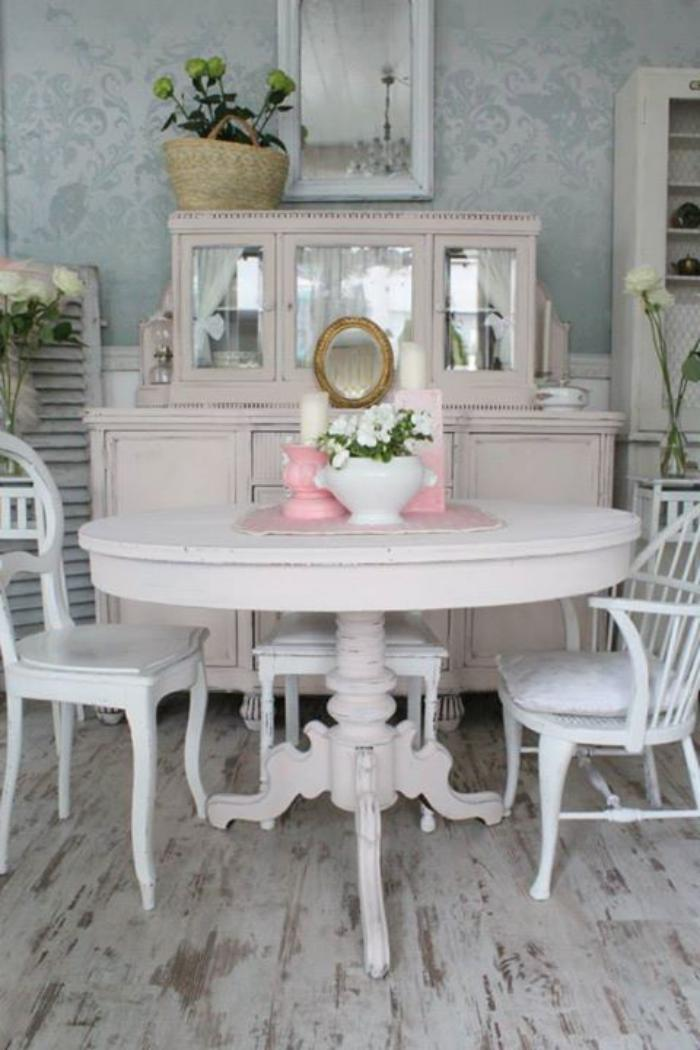 meubles-shabby-chic-salle-à-manger-coquette-style-shabby-chic