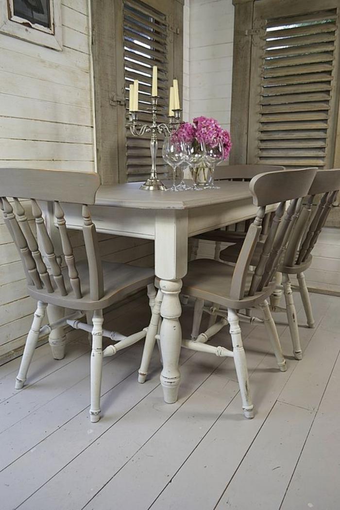 meubles-shabby-chic-salle-à-manger-en-gris-style-shabby-chic