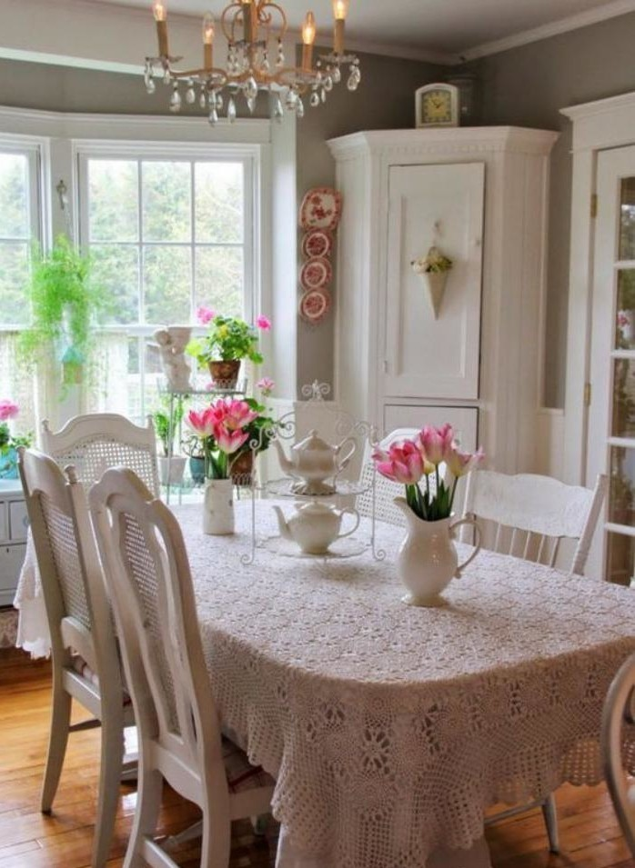 Style shabby chic d 233 best free home design idea for Salle a manger shabby chic