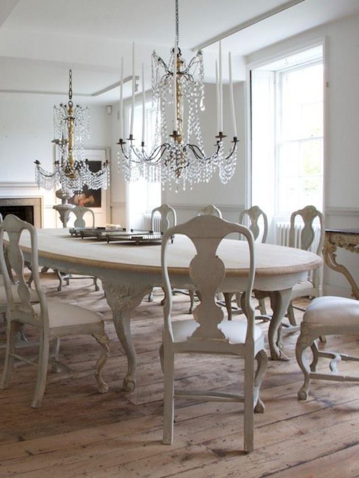 meubles-shabby-chic-salle-à-manger-style-victorien