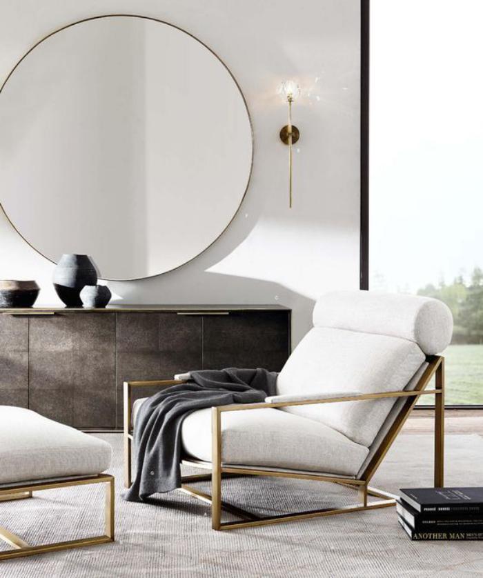 miroir-design-aménagement-salon-déco-minimaliste