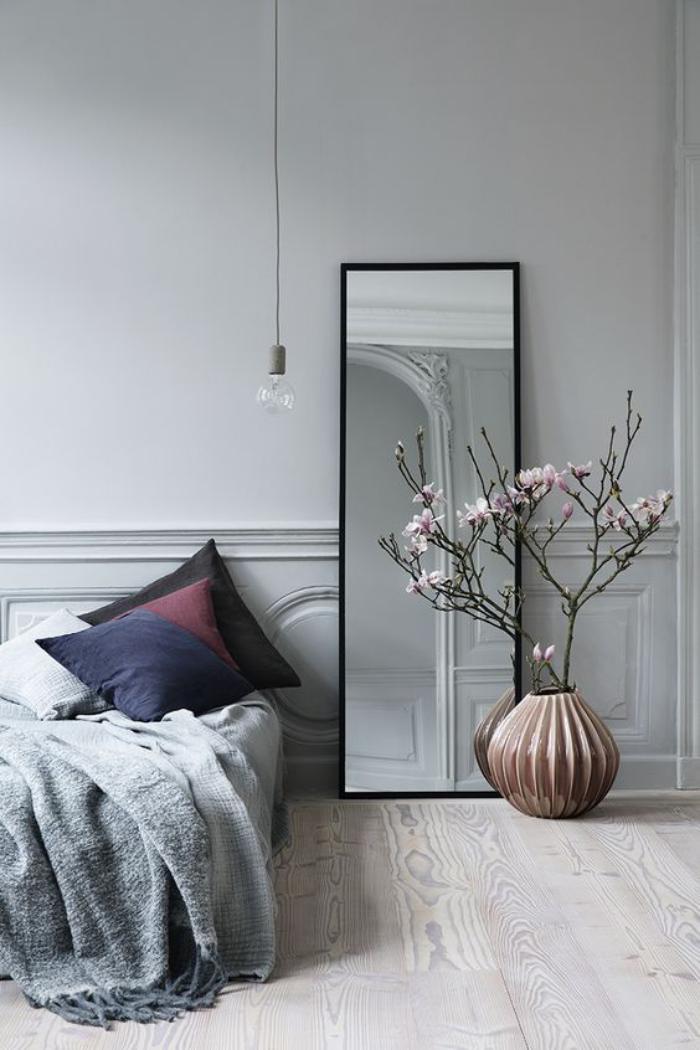 miroir-design-déco-de-chambre-à-coucher