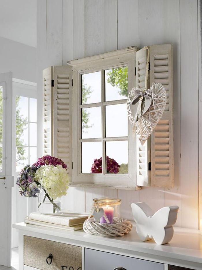 Comment r aliser une belle d co avec un miroir design for Deco murale shabby chic