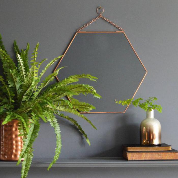Comment r aliser une belle d co avec un miroir design for Miroir hexagonal cuivre