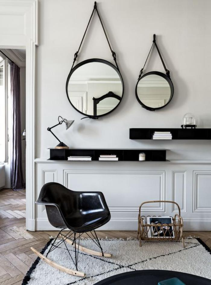 comment r aliser une belle d co avec un miroir design. Black Bedroom Furniture Sets. Home Design Ideas