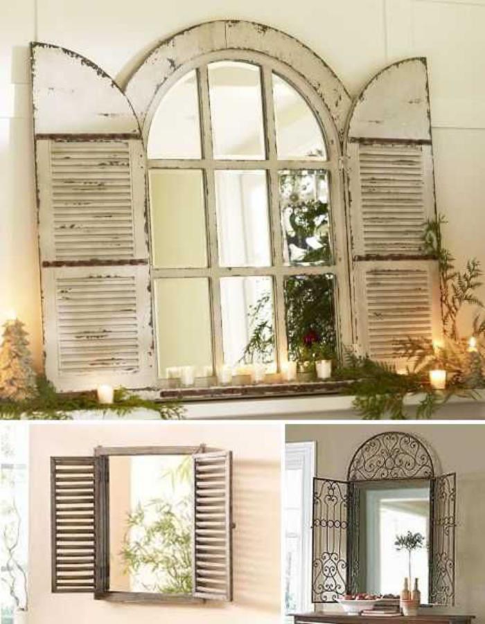 miroir-fenêtre-à-volets-persiennes-bois