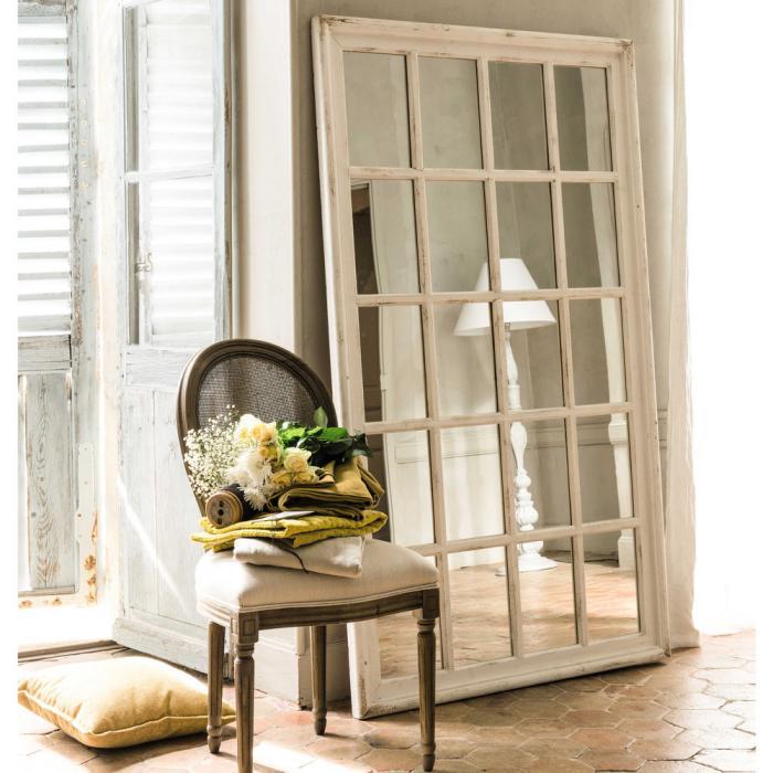 miroir-fenêtre-design-rectangulaire-bois-blanc