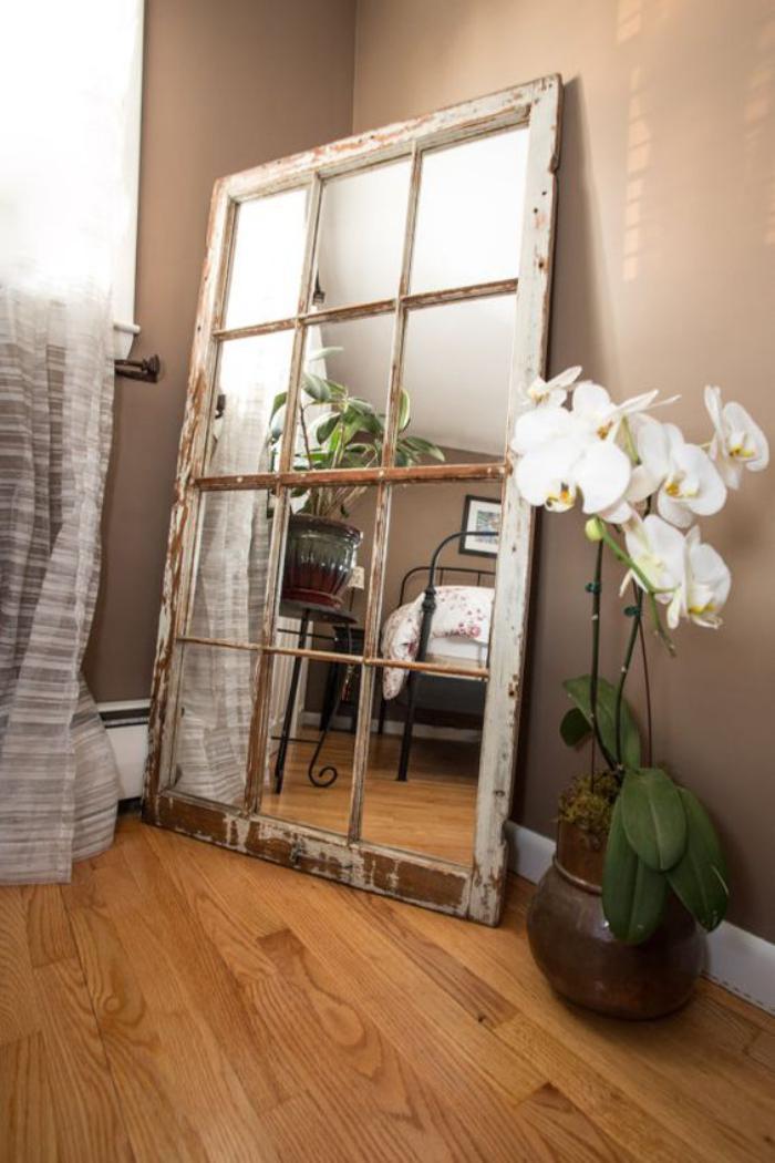 miroir-fenêtre-design-rectangulaire-cadre-zncien-bois