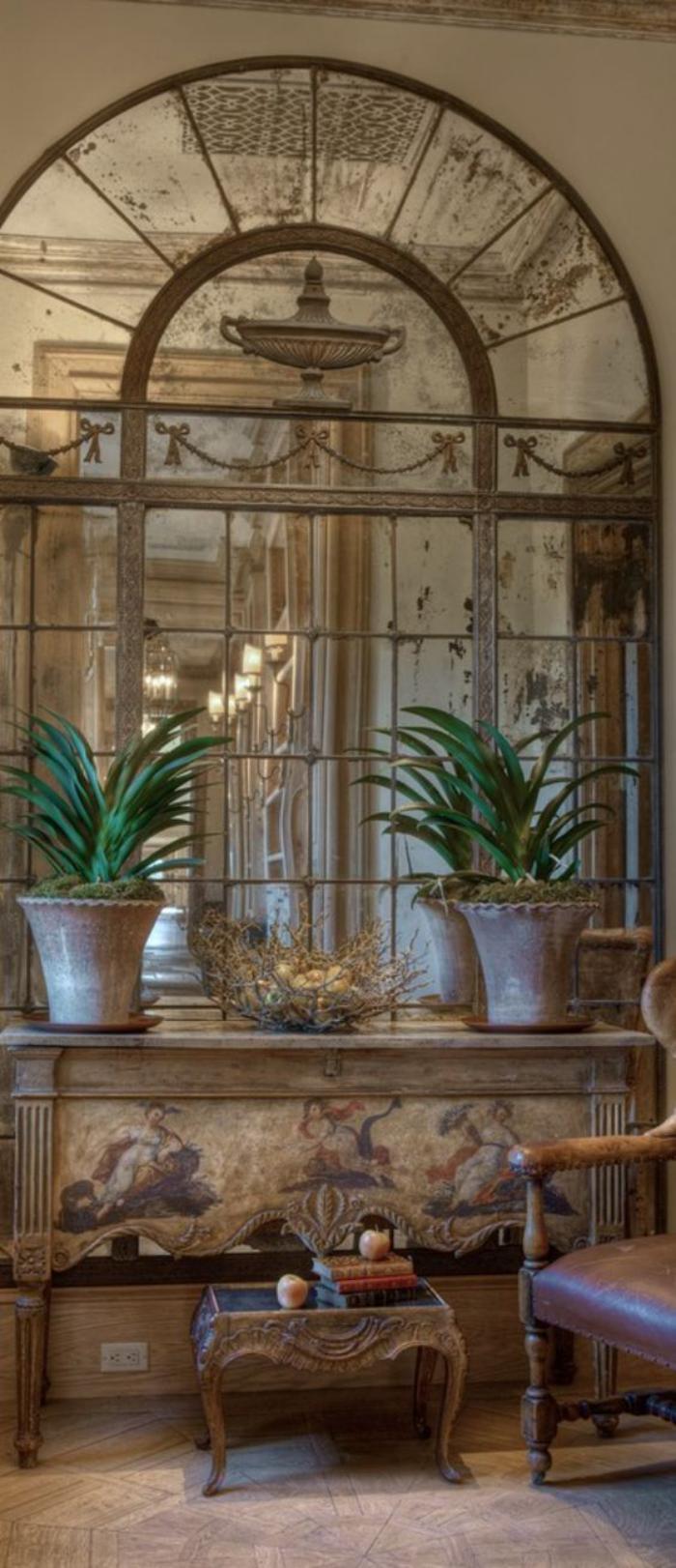miroir-fenêtre-grand-miroir-arcade-vintage