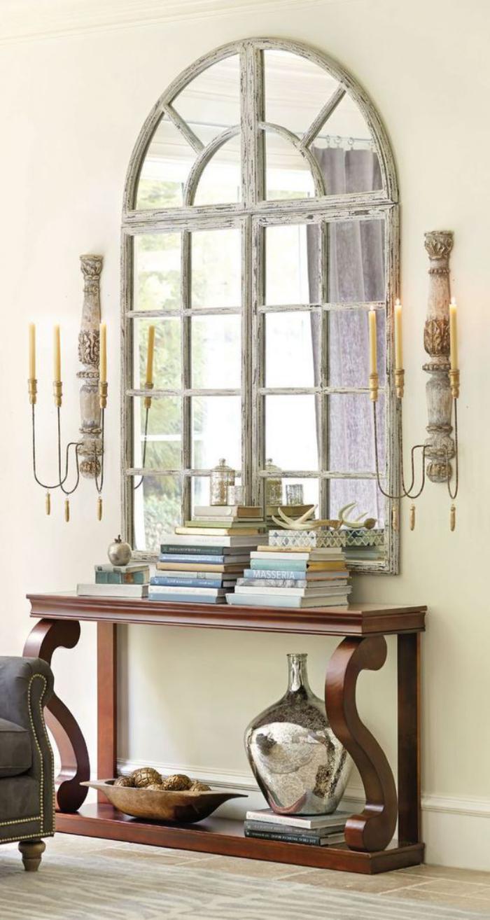 miroir-fenêtre-miroir-mural-design-et-console-en-bois