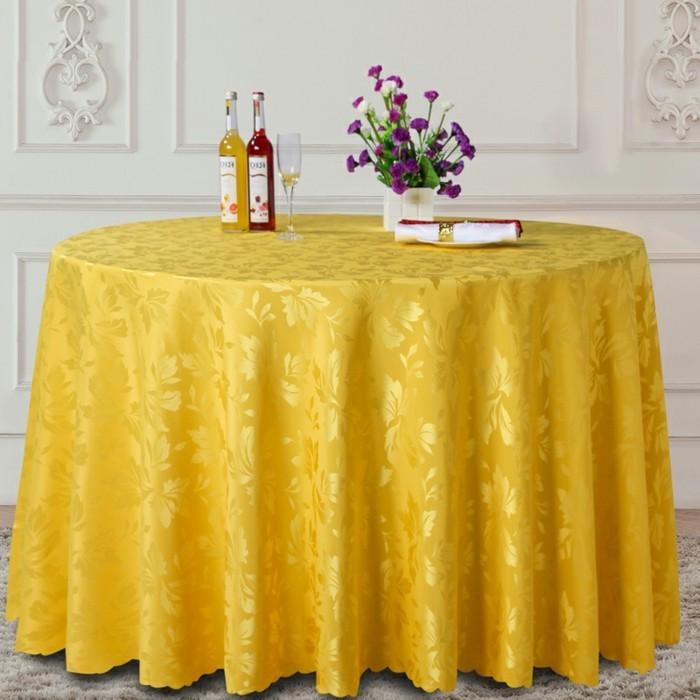 nappe table ronde conseils id es et exemples de d coration en 71 photos. Black Bedroom Furniture Sets. Home Design Ideas