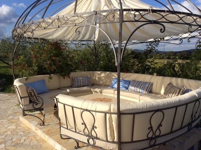 Tente de jardin pergola - Gloriette de jardin en fer forge ...
