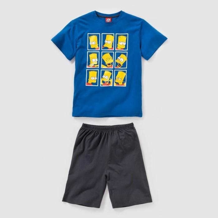 pijamas-été-enfant-13-49-Euros-La-Redoute-garcon-Simpson-resized