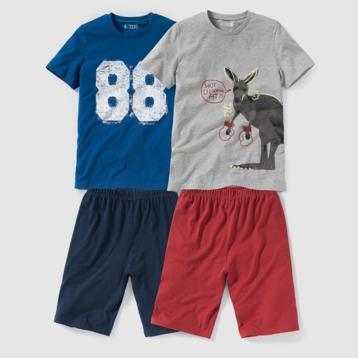 pijamas-été-enfant-25-98-Euros-lot-de-deux-La-Redoute-pijashort-imprime-resized