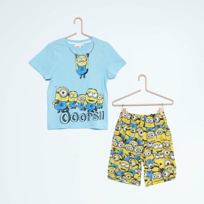 pijamas-été-enfant-court-aux-Minions-en-jaune-Kiabi-12 Euros-resized