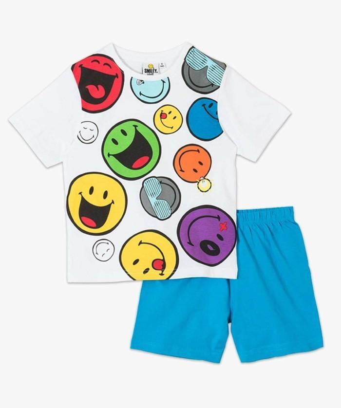 pijamas-été-enfant-en-bleu-et-blanc-aux-emoticones-qui sourient-et-qui-rient-chez-Gemo-resized