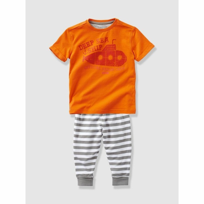 pijamas-été-enfant-en orange-Vertbaudet-La-Redoute-resized