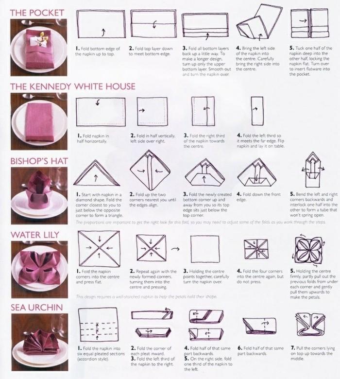 Pliage de serviette pour noel - pliages de serviettes noel