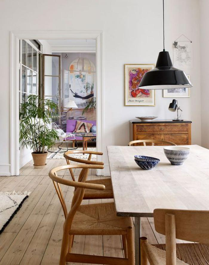 La salle manger scandinave en 67 photos for Appartement moderne salle a manger