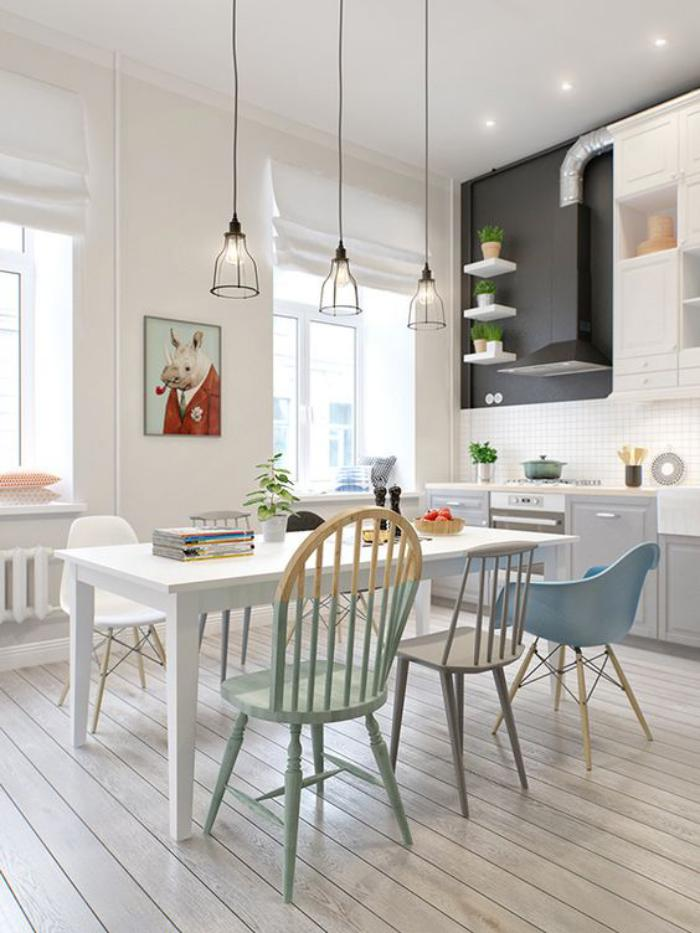 La salle manger scandinave en 67 photos - Cuisine style scandinave ...