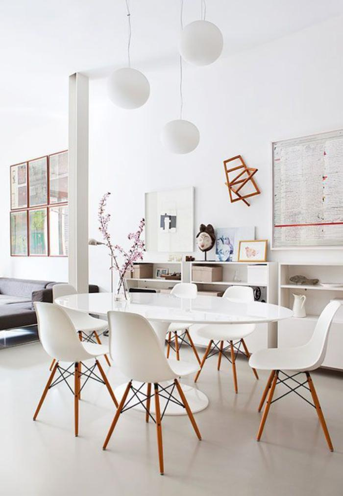 La salle manger scandinave en 67 photos for Dining room ideas eames
