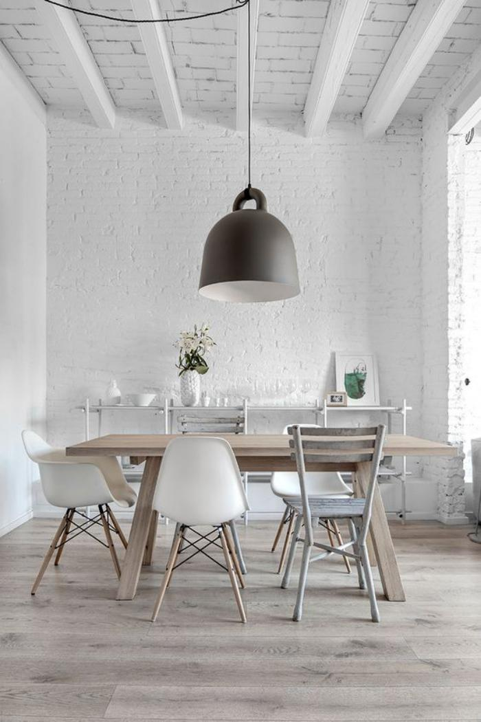 La salle manger scandinave en 67 photos for Salle a manger industrielle