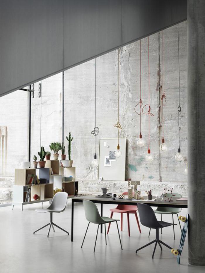 salle-à-manger-scandinave-salle-à-manger-style-industriel