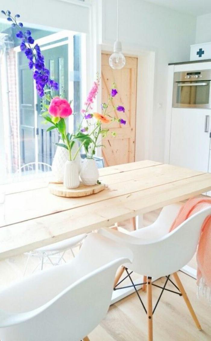salle-à-manger-scandinave-table-bois-scandinave