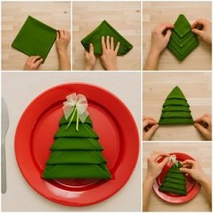 Pliage de serviette pour Noël: idées et conseils