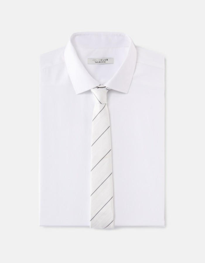 superbe-cravate-pour-homme-rayeau-blanche-chemise