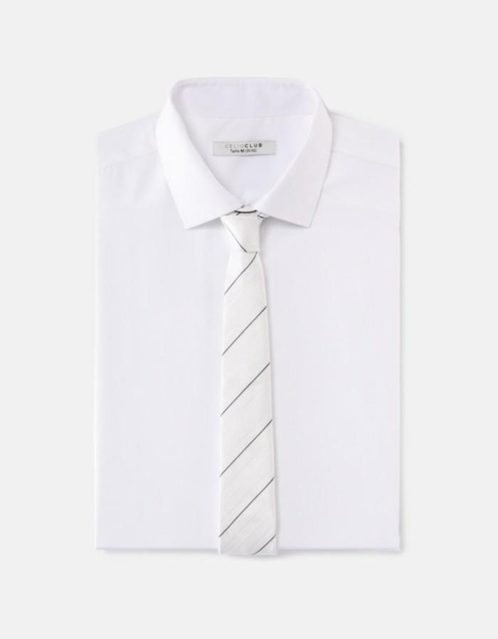 superbe-cravate-pour-homme-rayeau-blanche-chemise