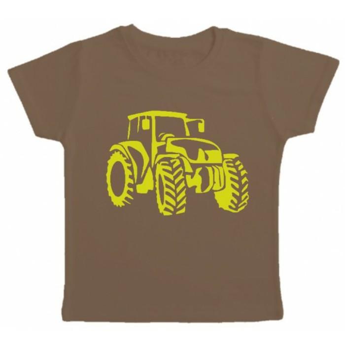 t-shirt-personnalisé-enfant-Kibule-com-marron-avec-un-tracteur-resized