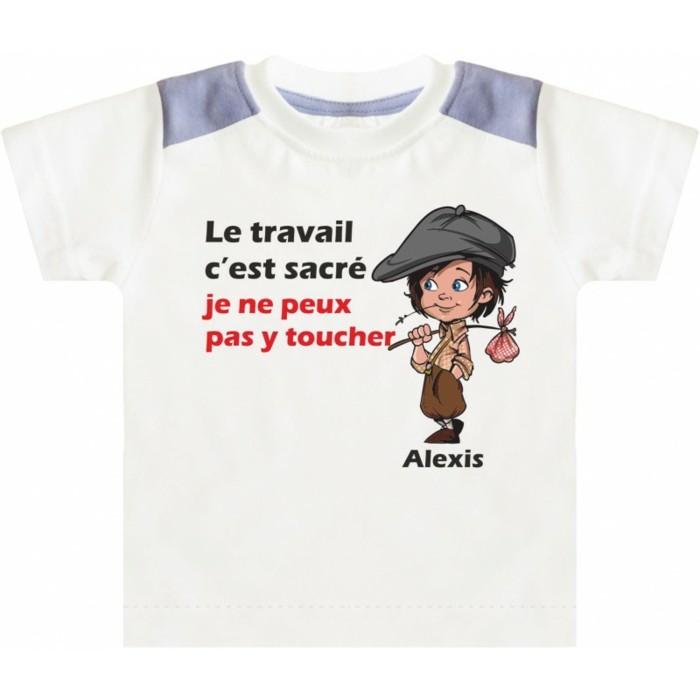 t-shirt-personnalisé-enfant-Pointcreation-t-shirts-le-travail-est-sacre-resized