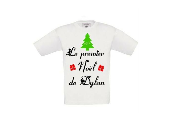 t-shirt-personnalisé-enfant-le-premier-Noel-de-Dylan-resized