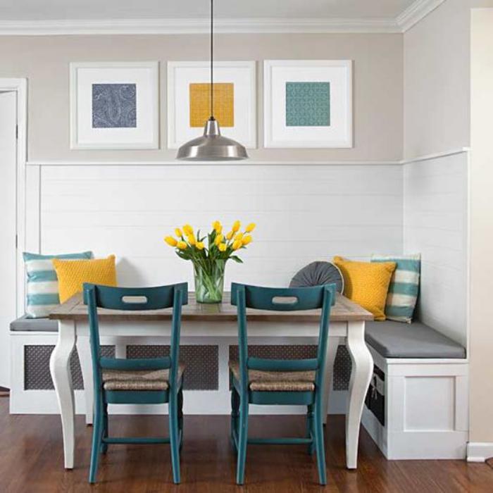Pourquoi choisir une table avec banquette pour la cuisine - Table et banc cuisine ...