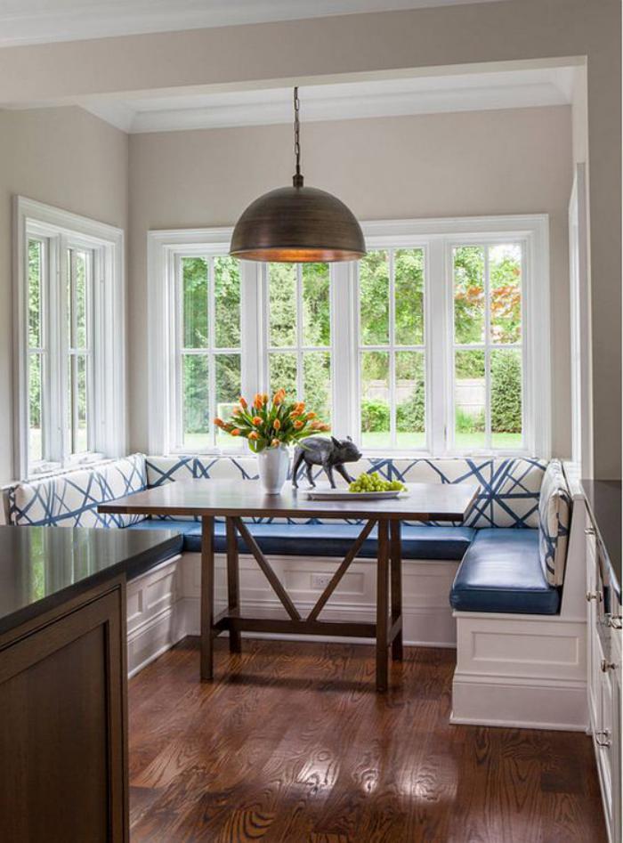 Fabriquer un banc en bois avec rangement - Table et banc cuisine ...