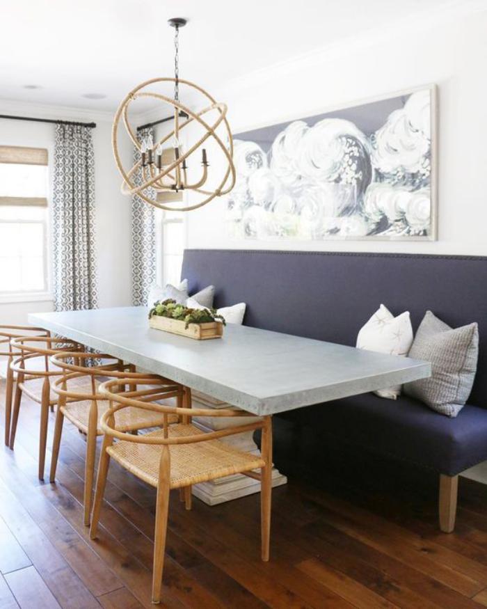 salle a manger avec banc. Black Bedroom Furniture Sets. Home Design Ideas