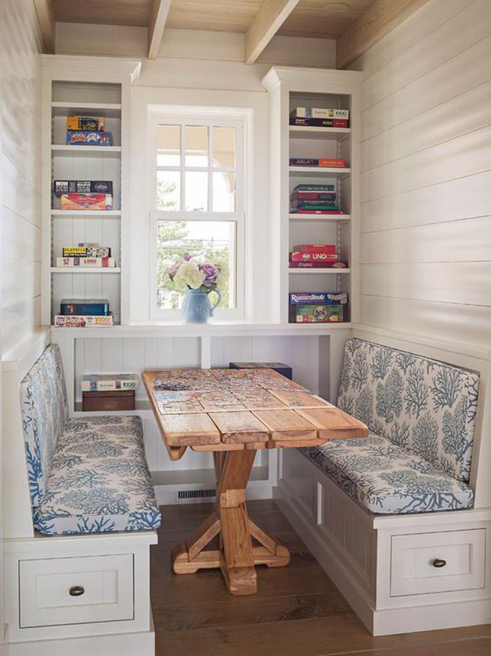 banc avec dossier pour salle a manger good salle de bain style campagne chic salle manger. Black Bedroom Furniture Sets. Home Design Ideas