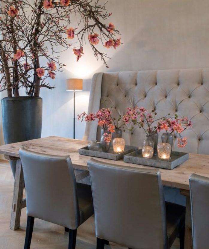 Banc avec dossier pour salle a manger 1 table avec for Table salle a manger avec banc