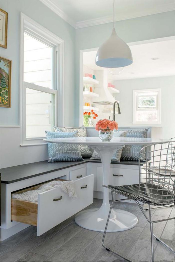 Pourquoi choisir une table avec banquette pour la cuisine for Petite cuisine avec coin repas