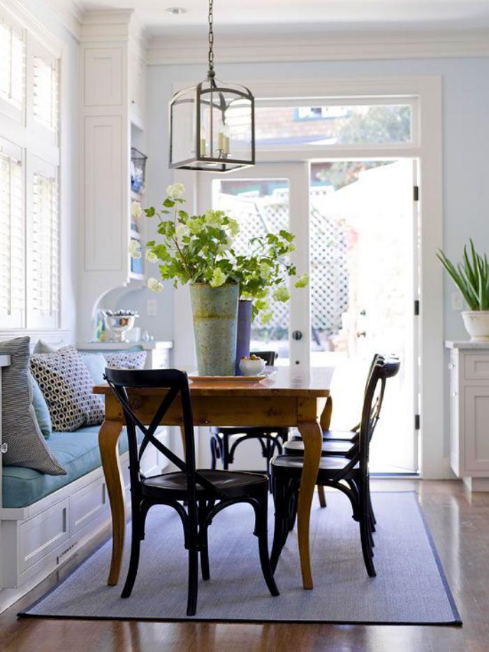 Pourquoi choisir une table avec banquette pour la cuisine ou la salle mange - Table avec chaise integree ...